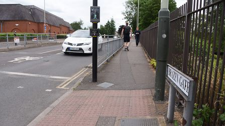 Brazen Gate at the junction with Queens Road, where the council are planning some changes. Picture: