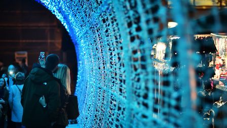 Tunnel of Light on Hayhill, Norwich. Picture: ANTONY KELLY