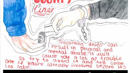 Wayland Academy pupil Megan Wells' competition-winning poster. Picture: TEN Group