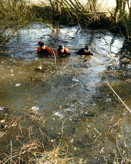 The pit where Johanna's body was found face down. It was up to seven feet deep in places. Photo: EDP