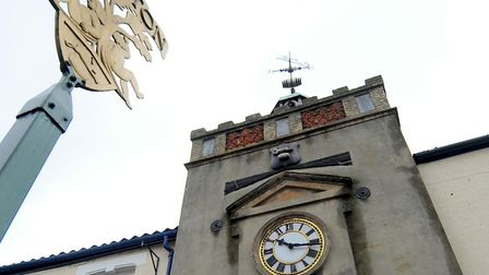 Watton clock tower and town sign. Picture: Denise Bradley