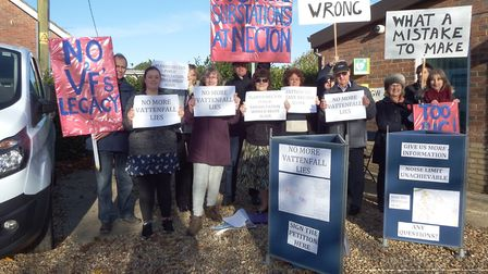 Protest in Necton. Picture: Jenny Smedley