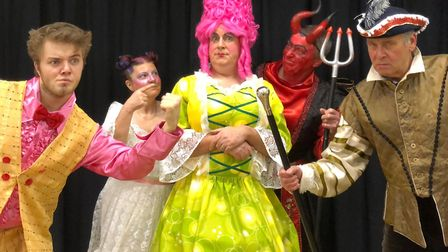 The cast of Old Buckenham Players' production of Mother Goose. Picture: Old Buckenham Players