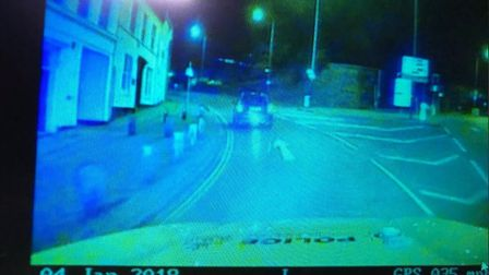 Officers in police chase through Norwich. Picture Twitter/@NSRoadsPolicing.