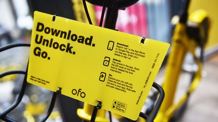 ofo bikes are happy with their start in Norwich. Picture: ANTONY KELLY