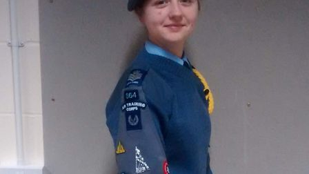 Helenor Cox, a Cadet Flight Sergeant in the Air Training Corps at 864 (Watton) Squadron, will be tak