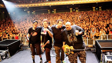 Bowling For Soup on stage. Photo: Kate James