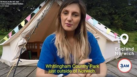 A screen grab of Nienke Krook at Whitlingham Broad Campsite. Picture: VisitEngland