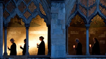 Voice Project Choir perform City of Strangers at Norwich Cathedral. Photo: Submitted