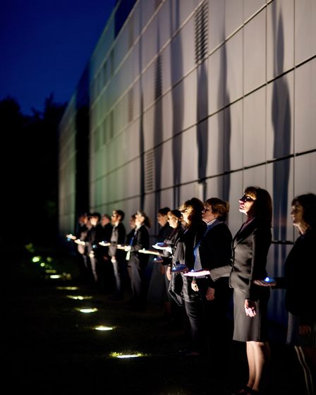 Voice Project Choir perform The Observatory at the Sainsbury Centre. Photo: Submitted