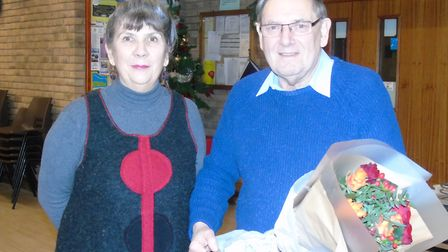 Hethersett Parish Council chairman Jacky Sutton and Fred Watkins.Picture of Jacky Sutton and Fred Wa