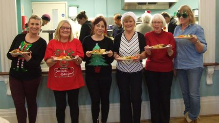 People who would normally be on their own at Christmas enjoy a free lunch courtesy of the Iceni Part