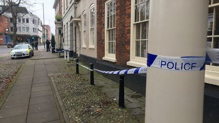 Police have cordoned off an area in Tombland in the Norwich following reports of a sexual assault. P