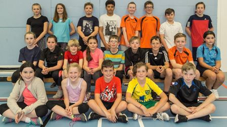 Young players at Hethersett badminton club. Picture Peter Steward