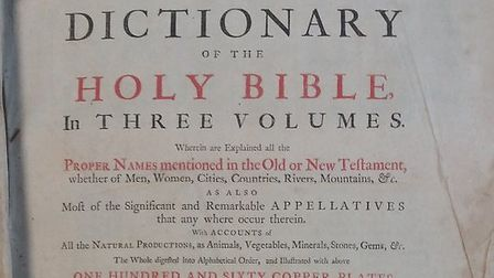 The Dictionary of the Holy Bible found at the reuse shop at Strumpshaw. Picture: Norfolk County Coun