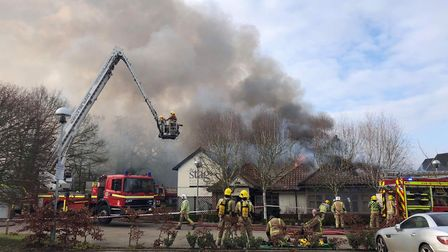 Breckland Lodge on fire (Image: Harriet Orrell)