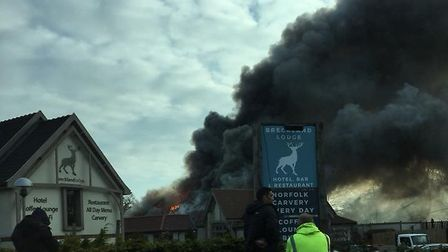 The Stag in Attleborough is on fire (Image: Jordan Appel)