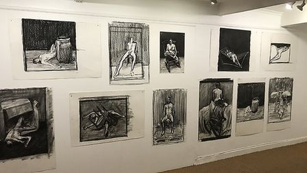 Craig Wylie: Studies for a Painting at Fairhurst Gallery, Norwich. Photo: Submitted