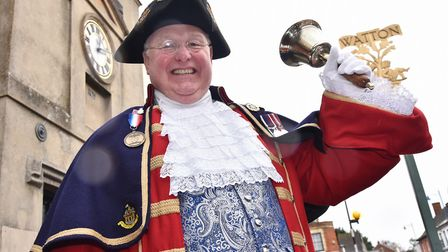 Watton have appointed Mike Wabe as their Town Crier.Byline: Sonya DuncanCopyright: Archant 2018