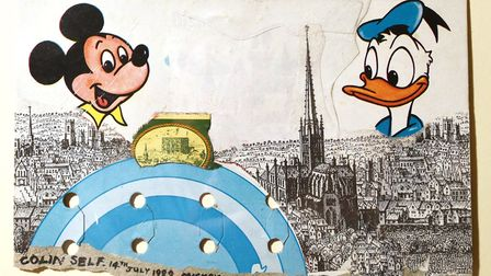 Mickey Mouse in Norwich by Colin Self, which was shown last year as part of the We Came Here To Conq
