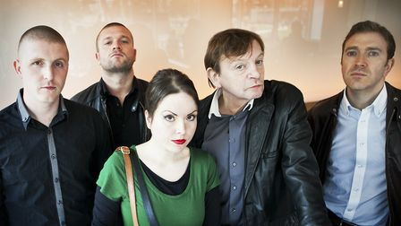 Mark E Smith withThe Fall line-up that played their last Norwich gig in 2015. Photo: Primary Talent