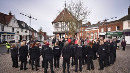 Love Wymondham Day. The Rock Choir entertaining the crowd.Picture: ANTONY KELLY