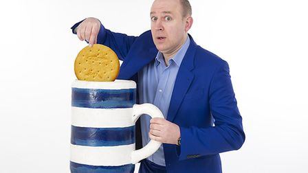 Tim Vine is bringing his show Sunset Milk Idiot to the region. Photo: Andy Newbold