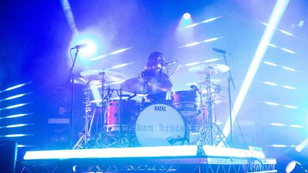 Don Broco's drummer Matt Donnelly performing at The Nick Rayns LCR with the band. Photo: Danielle Bo