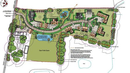The proposed site layout of the eight-house development in Stow Bedon. Picture: David Futter Associa