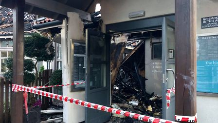 The clean-up has begun following a devastating fire at the popular restaurant and hotel, Breckland L