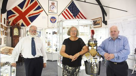 At the brand new Museum 4 Watton are trustees John and Jackie Greenbrook and (R) Chris Hutchings. Pi