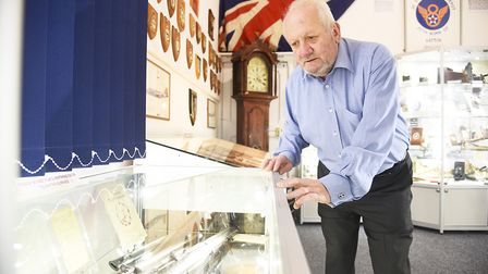 The Museum 4 Watton opens to the public on the 16th March. Pictured is trustee Chris Hutchings. Pict