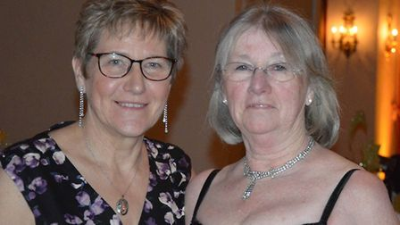 Wayland Agricultural Society ball organisers Dianne Sculfer and Shirley Scott. Picture: Wayland Agri