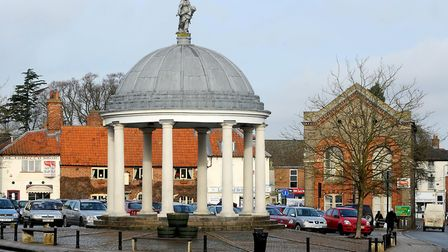 Swaffham Market Cross and Market Place. Picture: Denise Bradley