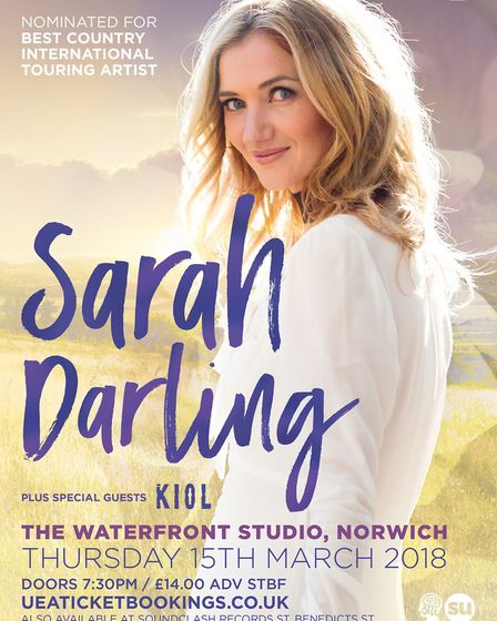 Sarah Darling tour poster. Photo: Courtesy of UEA Box Office