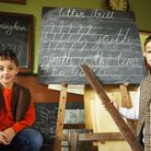 Twin brothers (L) Adam and Alex Stevens (9) at The Victorian School open day at Great Cressingham. P
