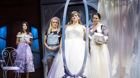 Natalie Anderson, Rachael Wooding, Jodie Prenger and Sam Bailey in Fat Friends. Photo: Helen Maybank