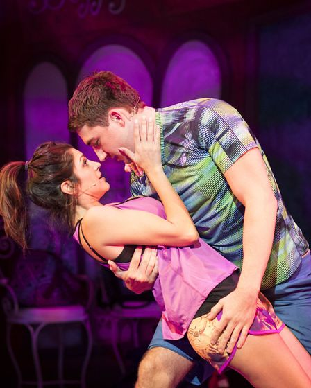 Natalie Anderson and Jonathan Halliwell in Fat Friends. Photo: Helen Maybanks