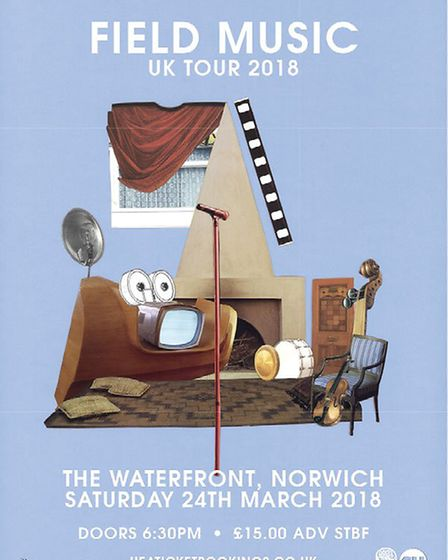 Field Music's Norwich tour poster. Photo: Courtesy of UEA Box Office