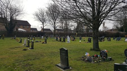 Watton Cemetery. People whose relatives who are buried there are angry at being asked to remove memo