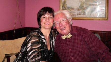 PBL Fest organiser Ruth Donley-Bond, pictured with her late father, whose memory the event is in. Pi