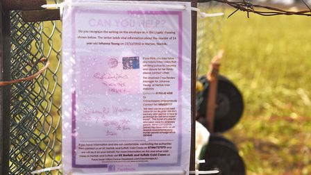 A poster appealing for help in the murder of Johanna Young. Picture: Ian Burt