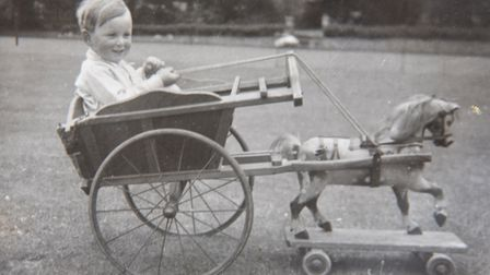 Robert Bothway as a young child. He said horses have always been part of his life. Picture: