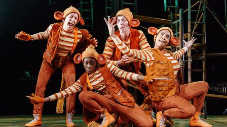 The monkey cast of The Jungle Book. Photo: Manuel Harlan