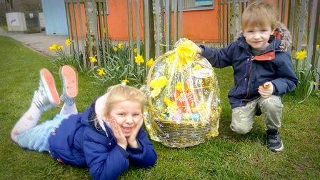 Easter baskets were handed out across Swaffham. Picture: Swaffham Lions