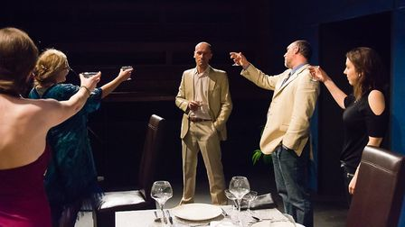 Dinner at the Sewell Barn Theatre. Photo: Sean Owen