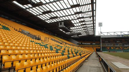 Empty seats at Carrow Road. Picture: JAMES BASS