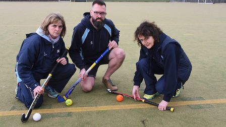 Watton Hockey Club chairman, Grant Harwood, with welfare officer and junior section manager Julie Wi