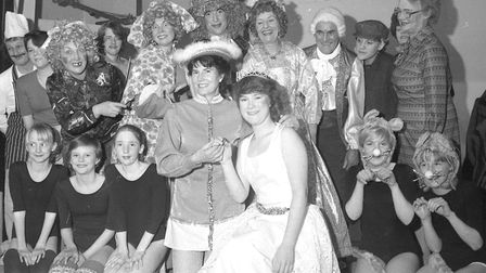 The Old Buckenham Players put on a pantomime called Cinders in 1985 with a cast including Gail Hawor