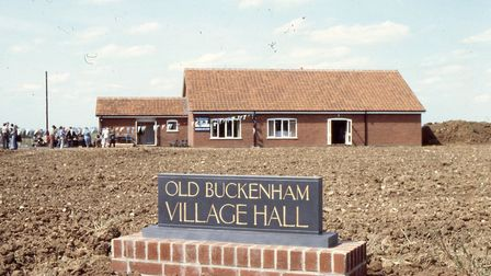 The opening of Old Buckenham village hall on May 19, 1978. Picture by Paul Hewitt.